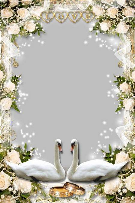 Wedding Frame - Two hands together indissolubly