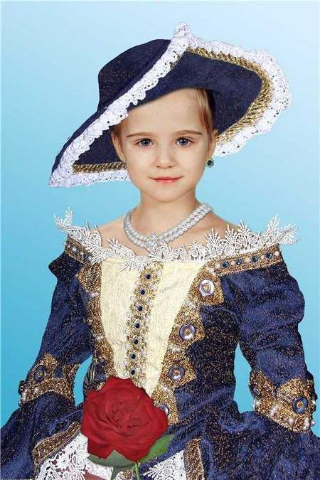 Free Photoshop template for girls download - in a ball gown and a hat