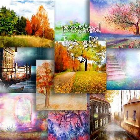 Autumn backgrounds download - 34 JPG Golden autumn