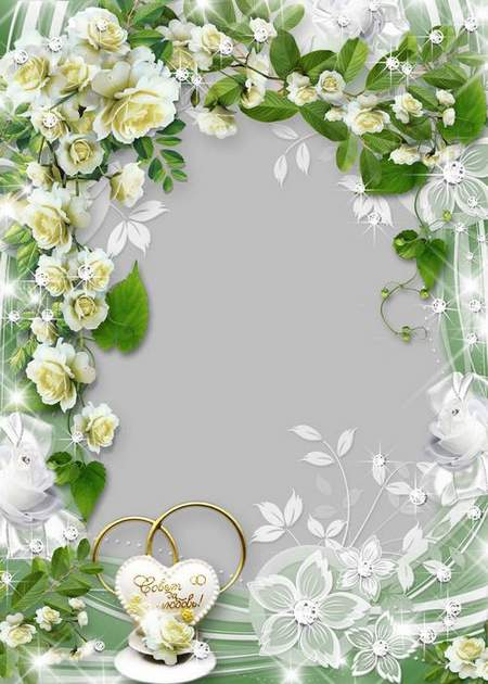 Wedding frame - Let your two hearts beating in unison