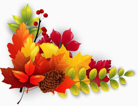 Bright Autumn Clusters download - free 20 png images