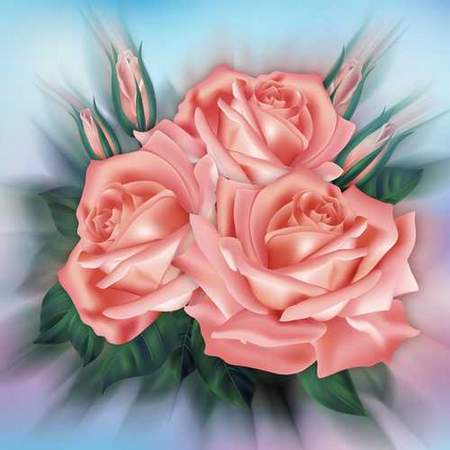 Flower psd source download - beautiful roses (free psd)