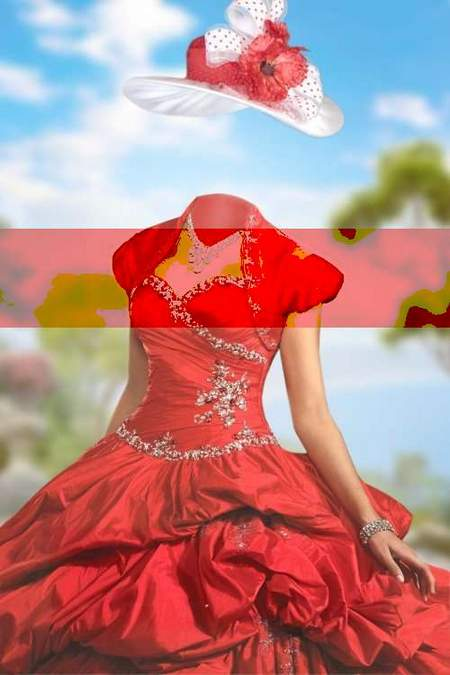 Lady in Aloe dress download - free photoshop template