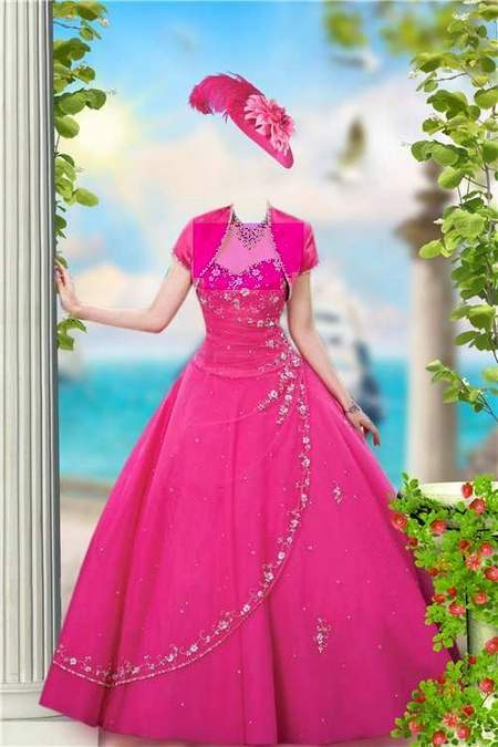 Lady in a ball gown at the sea - free Photoshop template download