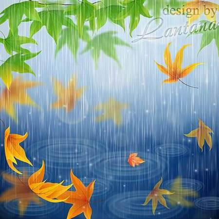 Free psd source download - autumn rain