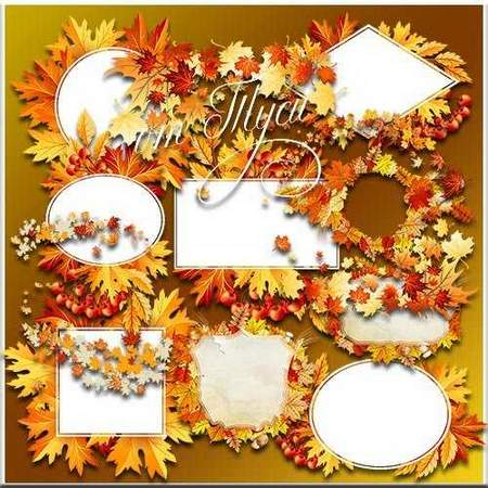 Autumn frame - free clipart psd download