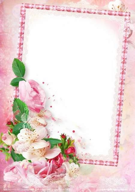 Flower Photo frame template