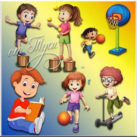 Children Clipart psd
