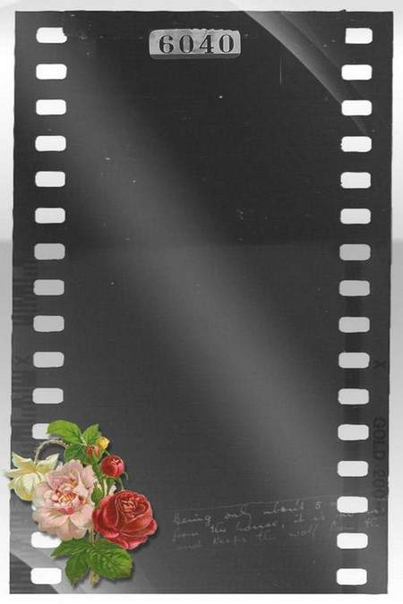 Free psd frames for photo download - Movie in Retro Style