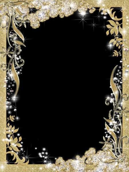 Golden Frame for Photoshop download - Magic refulgency