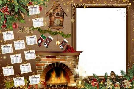 Calendar for 2014 - Christmas Magic in the night