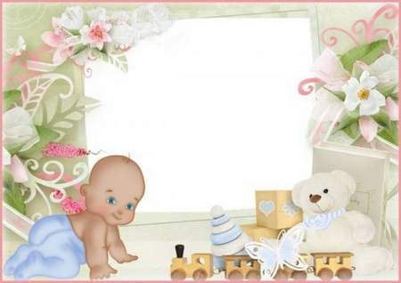 Baby frame download - Our baby, free frame psd