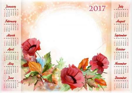 autumn calendar psd