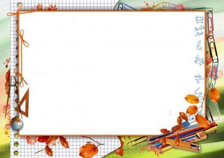 School photo frame template download - (free frame psd + free frame png)