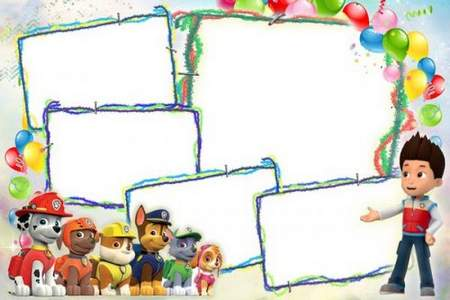 Children frame collage for 5 photos