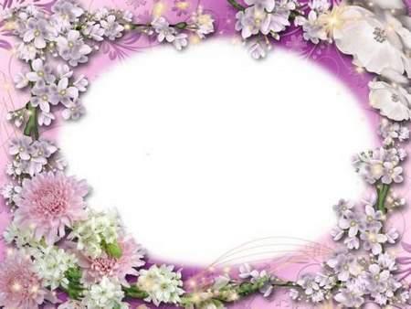 Romantic frame for Photoshop - Purple Paradise