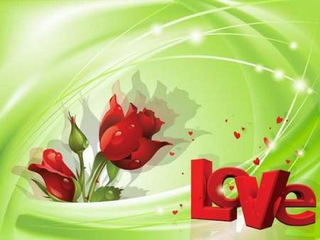 PSD source for Photoshop - Red Rose - emblem of love