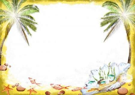 Multilayered summer photo frame - A piece of sea in the shell