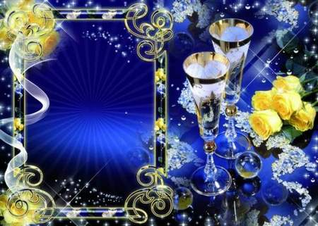 Frame for photo - Congratulate - Today I want to raise goblet that all were that wanted
