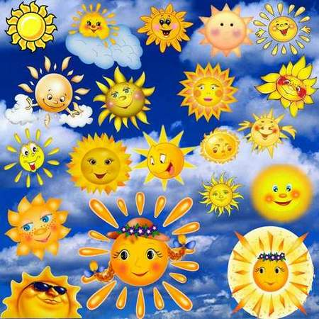 Sun Clipart download - free psd file (transparent background)