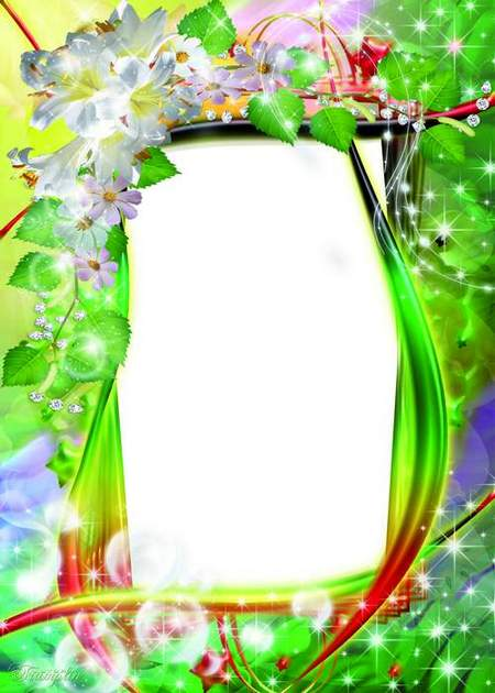 Frames for Photoshop - Flower time has come
