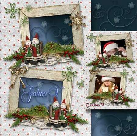 Free Christmas Photoframe for 2 photos download