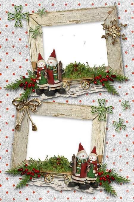 Christmas Photoframe for 2 photos