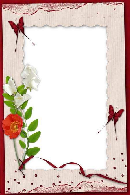 Delicate frame for lovers with ribbons and pink flowers-Love how the colors fragrance