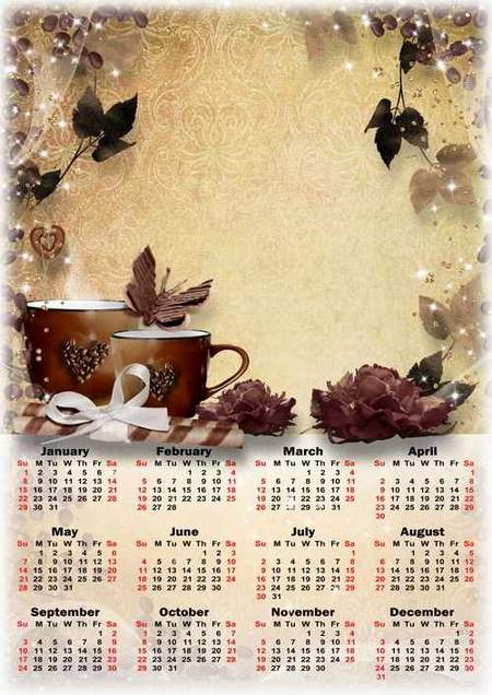 2017 psd Calendar download - free photoshop Calendar frame psd