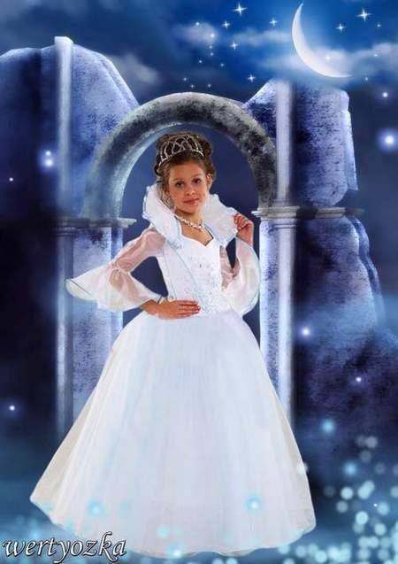 Princess in lunar light
