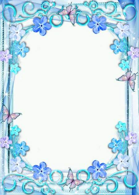 Psd Frame for Photo - Wonderful forget-me-nots