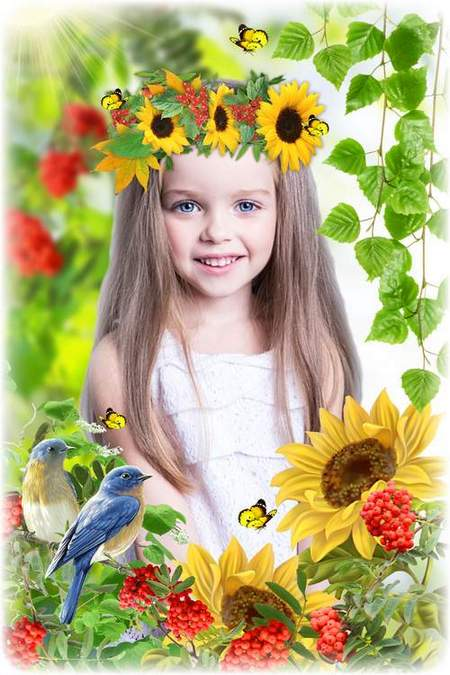 Free Nature summer photoshop collage download (free collage psd)