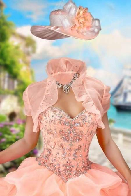 Lady in ball gown with bolero