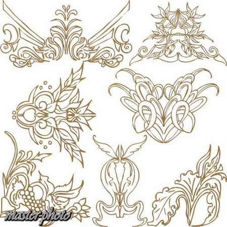 Decor design Elements free psd download