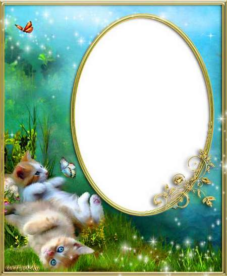 Child's frame for Photoshop - Fluffy nice crumbs