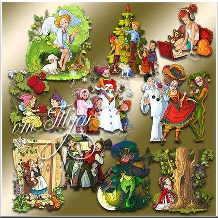 Heroes of fairy tales - free clipart clusters psd (transparent background)
