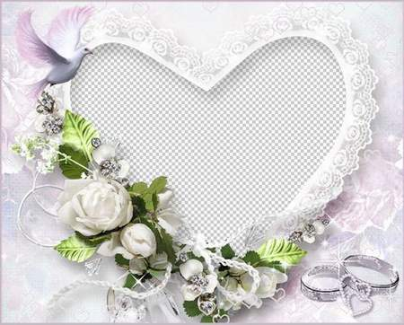 Beautiful wedding frame for Photoshop - Love, love, love