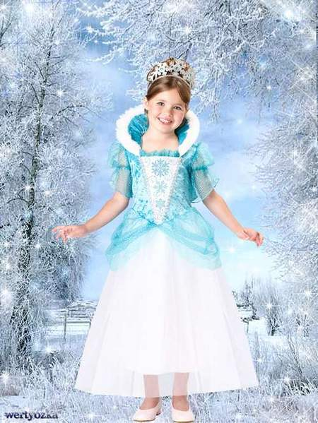 Child's template - Charming girl and sorceress the winter