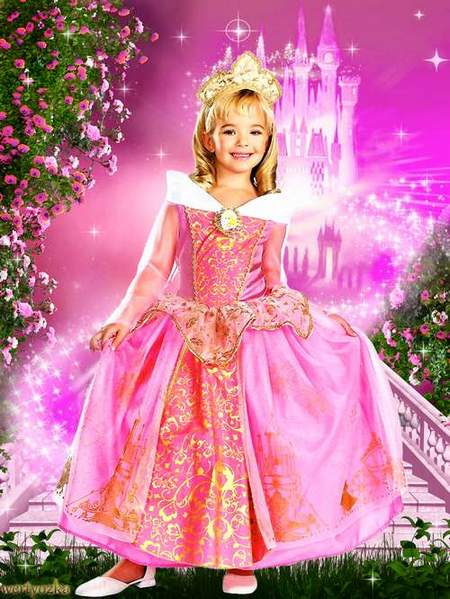 Child's template - Charming princess in the magic lock