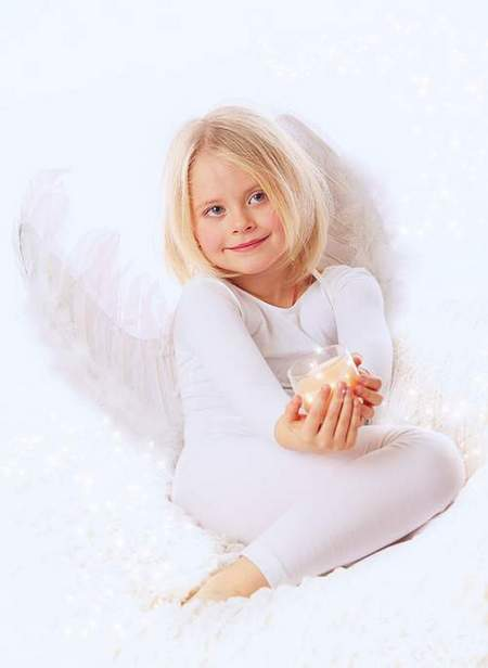 Free Child's psd template - Little Angel