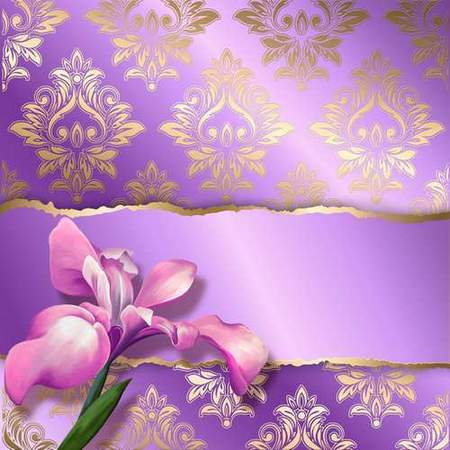 Textural backgrounds with flowers - free 2 backgrounds psd