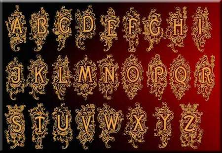 Latin alphabet download - free psd file (transparent background)