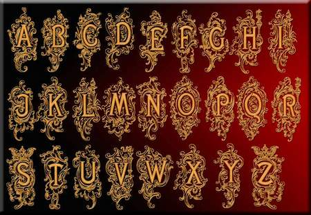 Latin alphabet download - free psd file