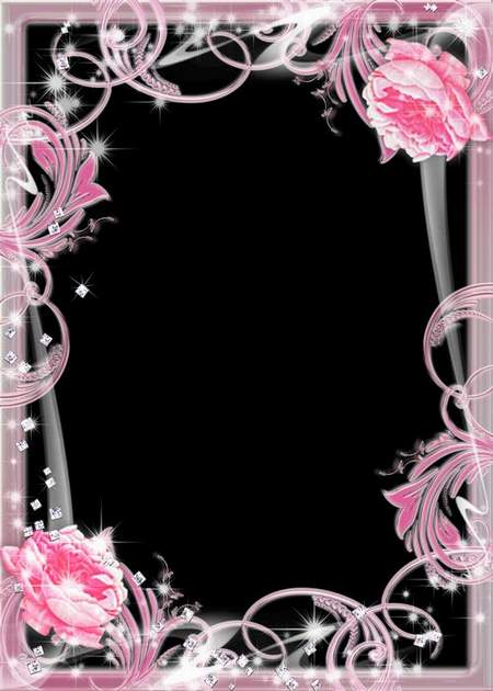 Glamour Frames for Photo download - Pearl color (free frame psd)