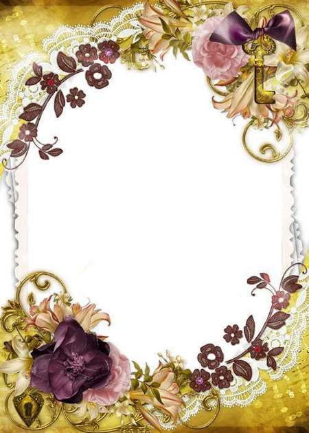 Vintage Frame for Photo - The Key to Your Heart