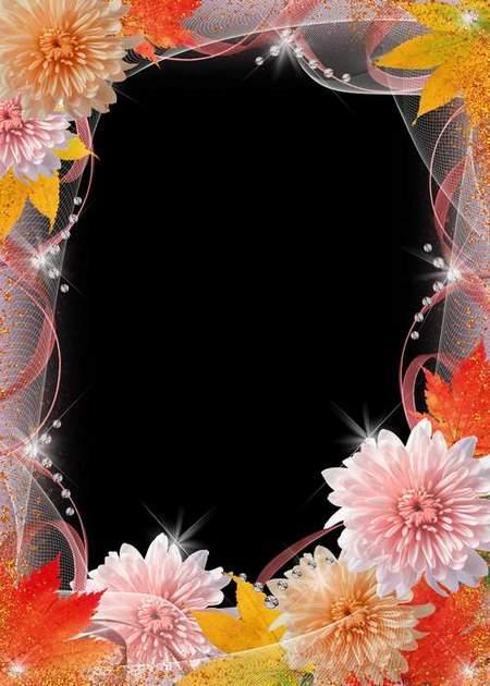 Flower frame for photo