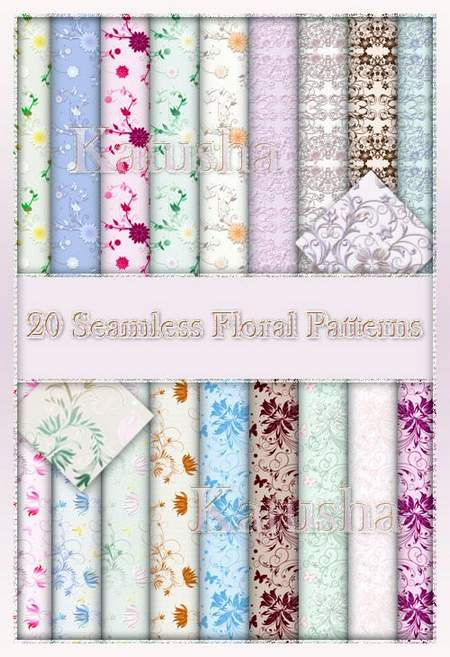20 Seamless Floral Patterns