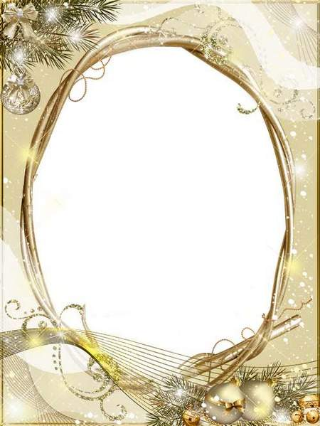 Holiday Frame download - New Year Ornament free frame psd