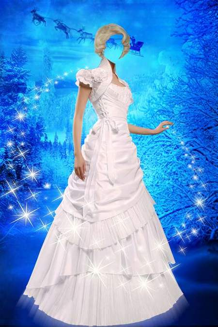 Women in dress for photoshop – Icy beauty