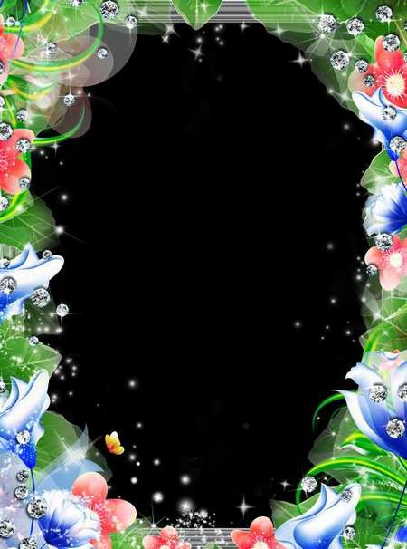 Frame for Photoshop - Flower Miracle (free frame psd + free frame png)